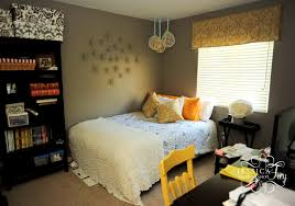 accessories engaging gray and yellow bedroom daccor dcacor
