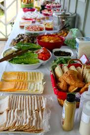 make your own buffet table a healthy table spread this one specifically is to make turkey