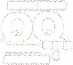 55 best letras 3d images on pinterest 3d letters box templates