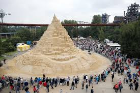 world s tallest sandcastle standing at more than 16 metres built