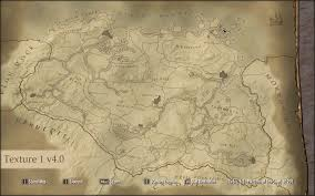 map paper paper map at skyrim nexus mods and community