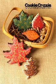 61 best trees and leaves cookies images on fall