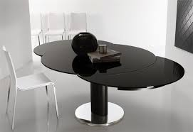 Black Glass Extending Dining Table Extendable Glass Dining Table Simple Size Of Glass Dining