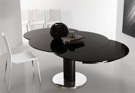 Black Glass Extending Dining Table Extendable Glass Dining Table Simple Size Of Glass Dining