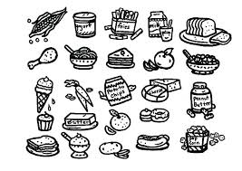 healthy food coloring pages preschool healthy food coloring pages food coloring pages drawing healthy
