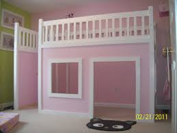 Plans For Loft Bed With Desk by Remodelaholic How To Build A Princess Castle Loft Bed