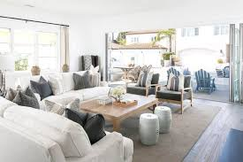 White Sofas In Living Rooms Large Living Room With White Sofas And Modern Cushions Decorate