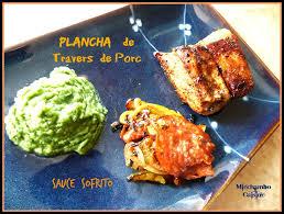 cuisine sur plancha travers de porc mariné sauce sofrito à la plancha miechambo cuisine