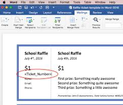 3 ways to print cheap or free numbered raffle tickets for your