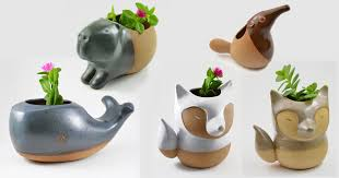 animal planter handmade ceramic animal planters by cumbuca chic colossal