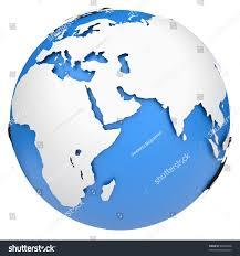 World Globe Map Earth Globe Map Side Africa Europe Stock Illustration 98420768