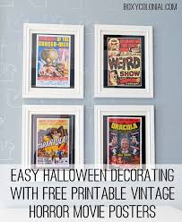 vintage horror movie posters easy and inexpensive halloween