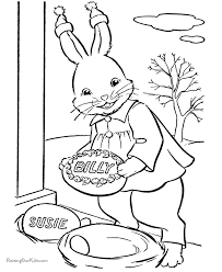 bunny pictures print coloring