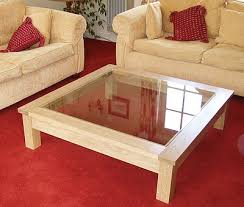 wood coffee table with glass top wooden coffee tables large oak coffee table with inset glass top