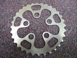 titanium chain rings images Experimental prototype titanium chainrings jpg