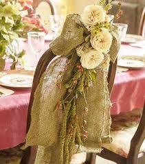 Vintage Wedding Chair Sashes Burlap Chair Sash Chair Swag Boho Wedding Chair Sash