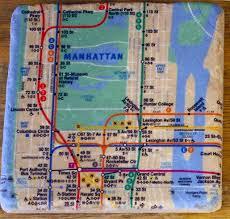 Mta Nyc Subway Map Nyc Subway Map Coasters Gift Man