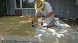 Painting Concrete Patio Slab Fort Wayne Concrete Patio Resurfacing Honey Stain Flickr