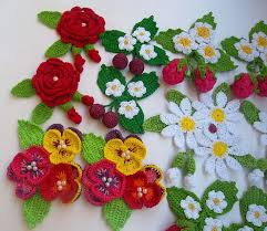 Crocheted Flowers - 348 best crochet flower and paisley images on pinterest