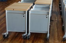 milder office butcher block pedestal u2013 maker series