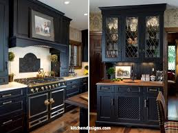 luxury black kitchen with distressed cabinets kitchen designs ny