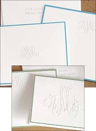 embossed stationery embossed monogram stationery we like design