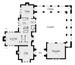 house plan with courtyard duncan castle plan u2013 tyree house plans