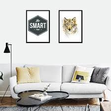 Nordic Home Decor Nordic Home Decor Be Smart Today Wolf Mural Frameless Posters Wall