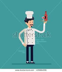 cartoon cook chefs illustration restaurant cook stock vector