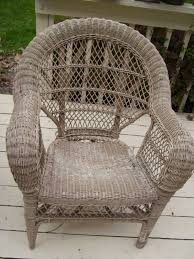 furniture rocking chair with cuhsion and height back rattan chair