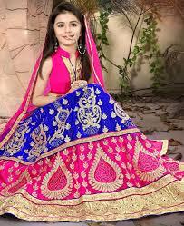 buy splendid pink and blue kids lehenga choli rkl14476 at 47 45