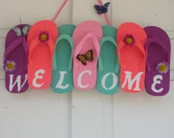 flip flop wreath beautiful welcome flip flop wreath wall door decor