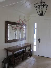 entrance table and mirror narrow console table with long entryway distressed pertaining to