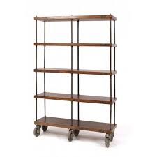 furniture home iron and wood bookcase design modern 2017