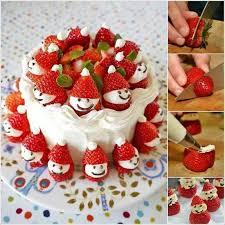 Decoration For Christmas Cake creative ideas diy strawberry santa christmas cake