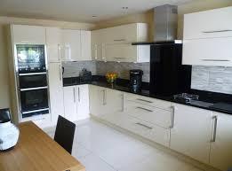 cream kitchen tile ideas white large floor tiles beufl pinterest black kitchens white