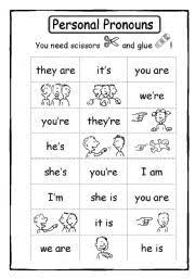 subject pronouns cards mr coward u0027s class pinterest