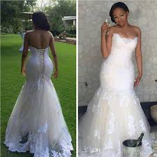 white wedding dress real picture 2016 white lace mermaid wedding dresses plus size