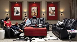kingvale black 2 pc power reclining living room living room sets