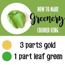 how to make greenery colored icing lilaloa how to make greenery