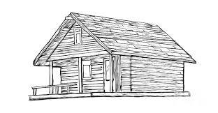 log cabin drawings little cabin in the woods drawing by edward fielding