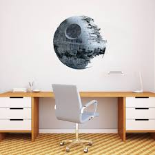 star wars death star wall sticker art decor 50cm star wars home