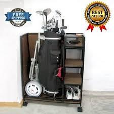 Garage Golf Bag Organizer - sturdy metal golf bag holder sport equipment organizer stand