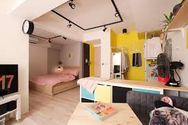 colorful studio apartment not your average basement nonagon style