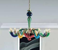 Multi Coloured Chandeliers Leucos Multi Coloured Glass Chandelier Modern Colourful Ceiling