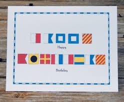 Us Navy Signal Flags Nautical Flag Marine Alphabet Code Happy Birthday Card Set Of