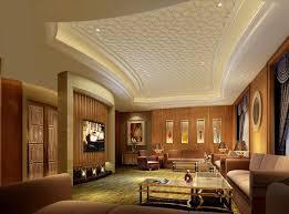Luxury Pattern Gypsum Board Ceiling Design For Modern Living Room - Living room pop ceiling designs