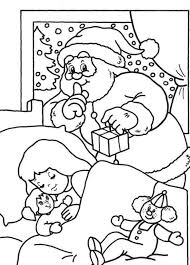 christmas coloring pages santa delivering gift
