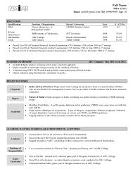 Sample Resume For Finance Mba Sample Resume For Freshers Finance Resume For Your Job