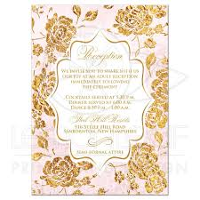 enclosure cards wedding reception enclosure card vintage floral blush pink